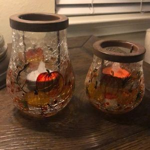 Yankee Candle Pair of Harvest Pattern Votives